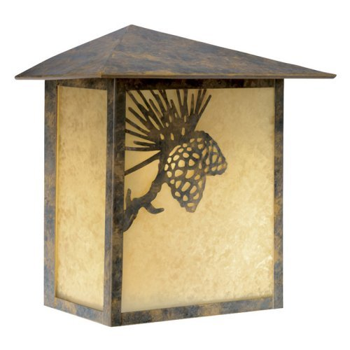 Whitebark Outdoor Olde World Patina 9.25 in. Wall Light