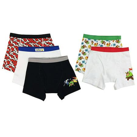 Pokemon Boys Boxer Briefs, 5 Pack](Pokemon Misty Underwear)
