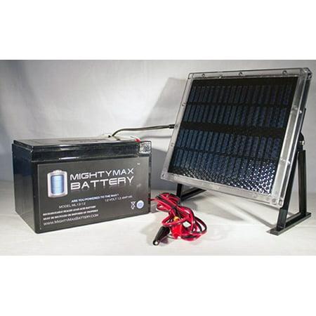 12V 12AH Battery for Data Shield 400 + 12V Solar Panel Charger