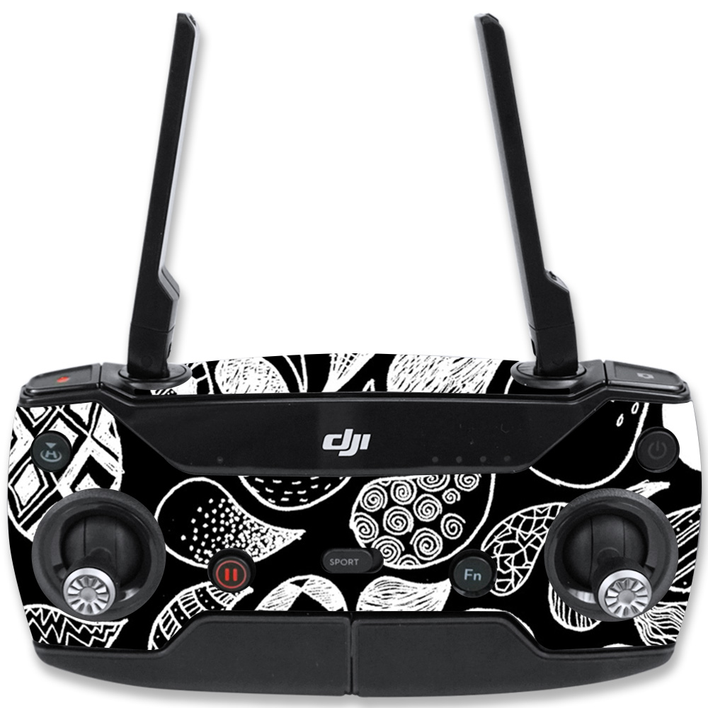 MightySkins Skin For DJI Spark Mini Drone Controller – Abstract Black | Protective, Durable, and Unique Vinyl Decal wrap cover | Easy To Apply, Remove, and Change Styles | Made in the USA