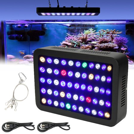 MarsAqua Dimmable 165W 55Pcs LED Aquarium Light Full Spectrum Reef Marine Coral Lamp For Freshwater Saltwater Fish