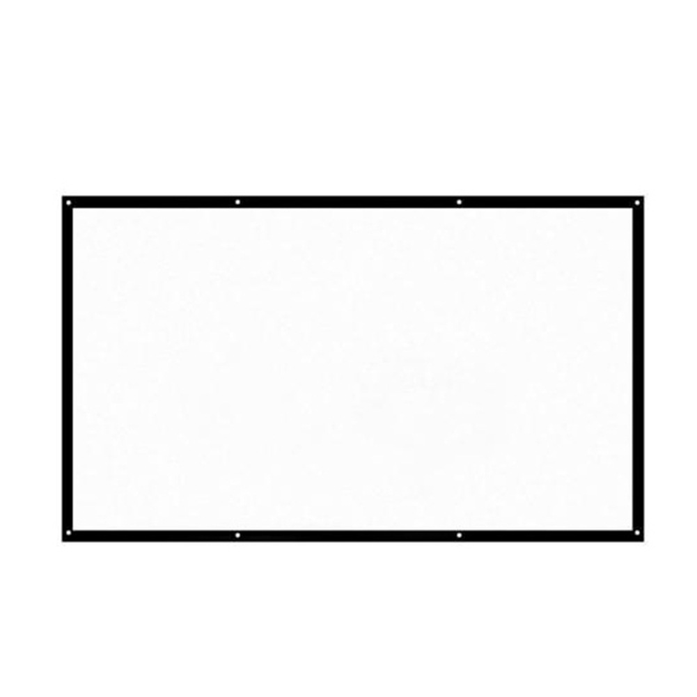 """120"""" 16:9 Manual Projector Foldable Projection Screen White HD Screen Movie Home TV Cinema"""