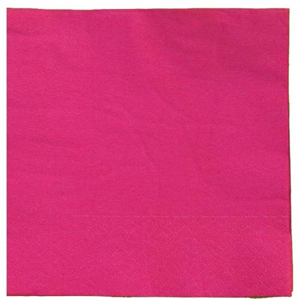 Exquisite Disposable Beverage Cocktail Napkins Bulk 100 Count Cerise High Quality Paper Napkins For Dinners Luncheons Birthday Parties Weddings Bridal Baby Showers Walmart Com Walmart Com