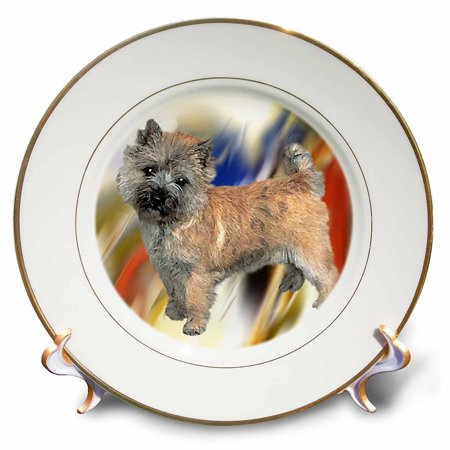 3dRose Cairn Terrier, Porcelain Plate, 8-inch