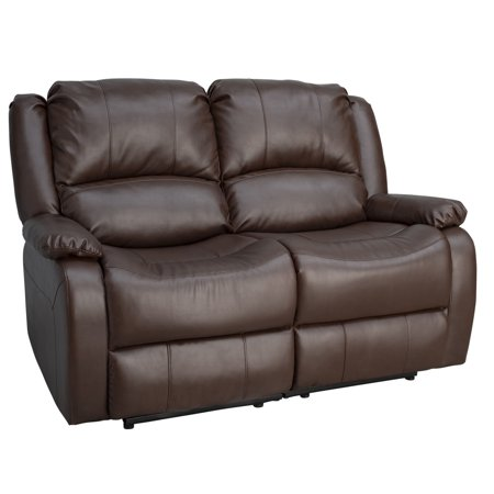 Recpro Charles 58 Double Rv Wall Hugger Recliner Sofa Loveseat Chestnut