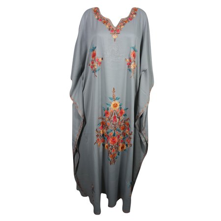 fd8743d8869 Mogul Interior - Mogul Womens Maxi Caftan Kashmiri Beautiful Crewel ...