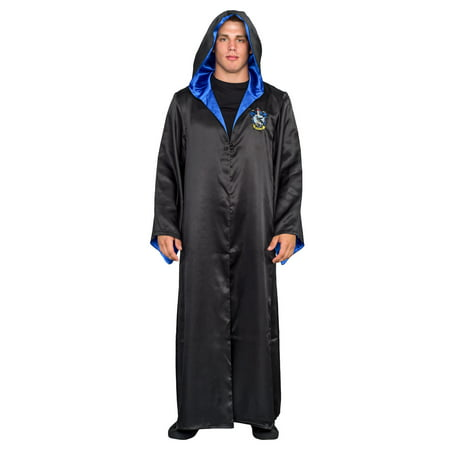 Harry Potter Ravenclaw Costume Black and Blue Long Robe with Hood (Ravenclaw Robes)
