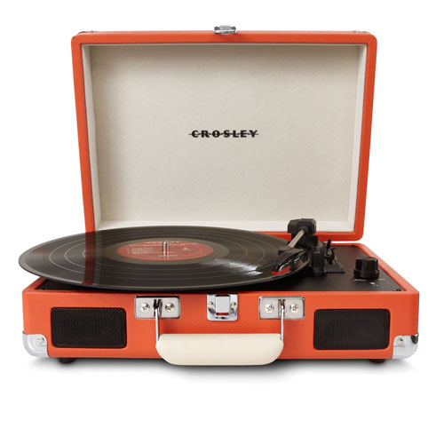 CrosleyCR8005A-OR Cruiser Portable Turntable (Orange) + Crosley NP1 Replacement Needle + Cleaning Pen + Dust Blower + Cleaning Cloth