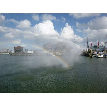Laminated Poster Port Docks Water Jet Feuerloeschuebung