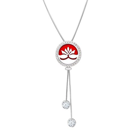 Anavia Anavia Anavia Lotus Slider Aromatherapy Jewelry Essential Oil Necklace 39 5 Inches With Gift Box Walmart Com