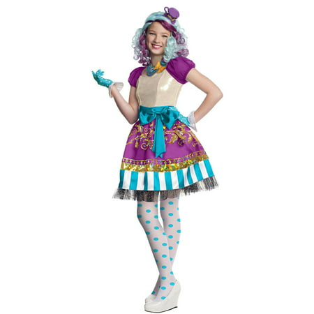 Madeline Hatter Costume (Madeline Hatter Ever After High Girls Rebel Costume R884911 - Medium)