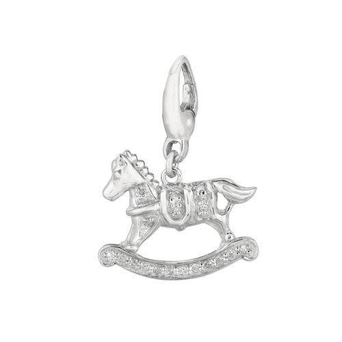 EZ Charms Diamond Rocking Horse Charm