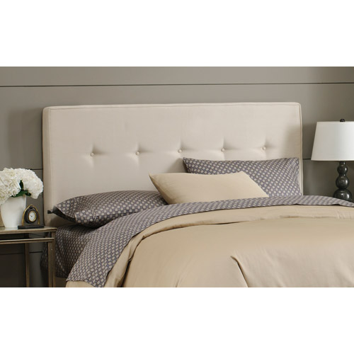 Faux-Suede Button Headboard, Multiple Colors