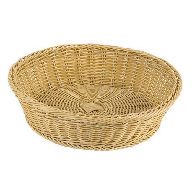 APS 42968-38 Large Round Polyrattan Bread Basket 15, L 15 x W 15 x H 4 by