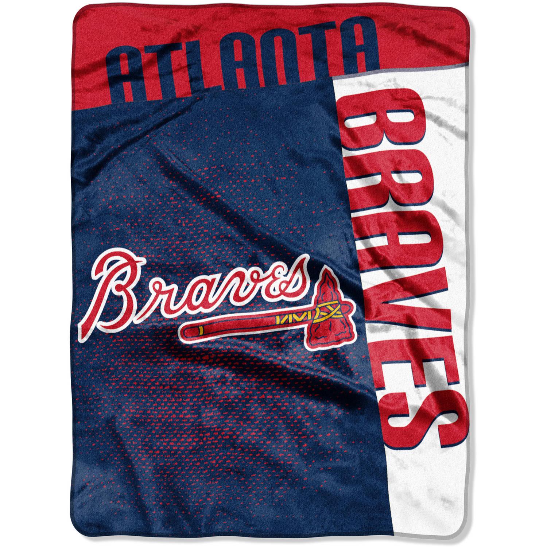 """MLB Atlanta Braves """"Strike"""" 60"""" x 80"""" Raschel Throw"""