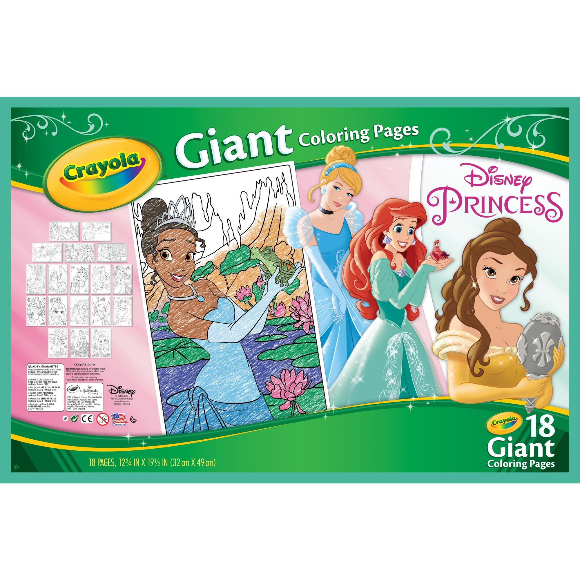 Crayola Disney Princess Coloring Pages, Giant Coloring Pages, 18 Count