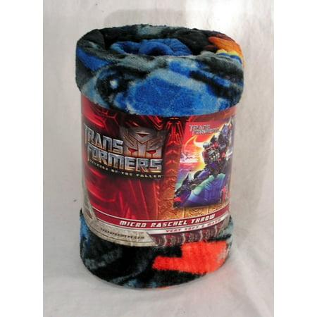 Transformers 50x60 Micro Raschel Plush Throw Blanket 50x60 Micro Raschel Throw Blanket