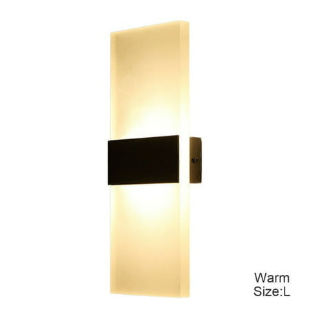Modern Acrylic 12W LED Up Down Wall Sconce Lighting Spotlight Aluminum Fixture Decorative Lights Lamp (Modern Wall Mounted Spotlight)