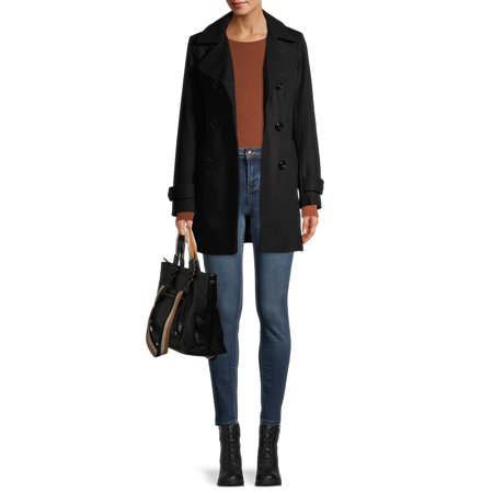 Anne Klein Double Breasted Wool-Blend Coat Now $34.88 (Was $225)