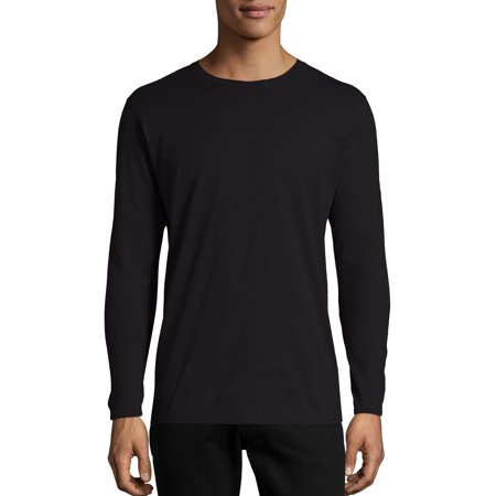 Hanes Men's and Big Men's Nano-T Long Sleeve Tee, Up To Size