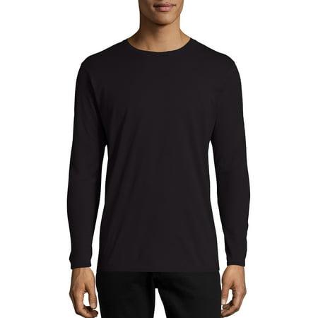 44b152ac Hanes Men's Nano-T Tagless Ultra-Light Long Sleeve Tshirt - Walmart.com