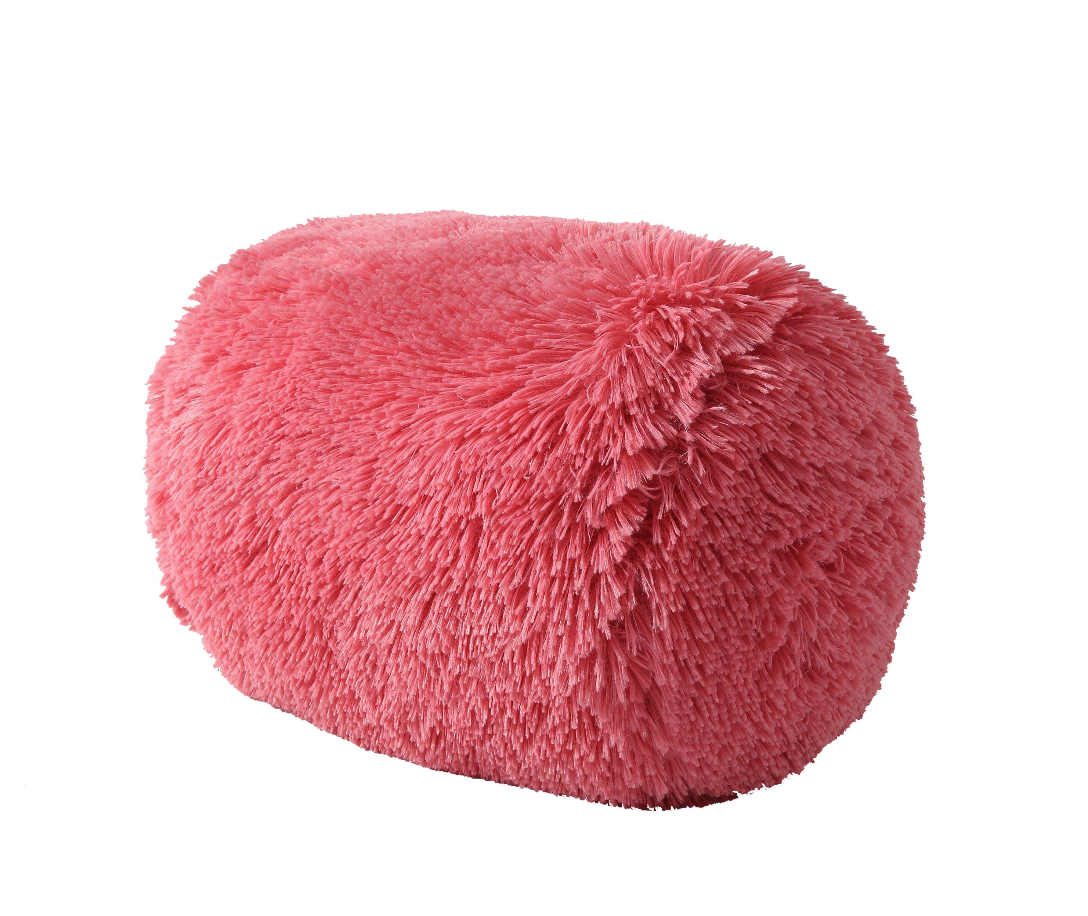 Picture of: Mainstays Fluffy Shag Decorative Pillow Red Walmart Com Walmart Com