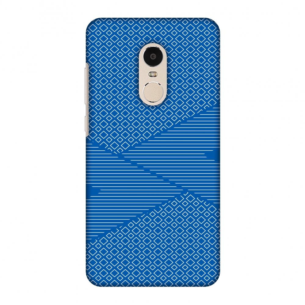 Xiaomi Redmi Note 4 Case, Premium Handcrafted Printed Designer Hard Snap On Case Back Cover for Xiaomi Redmi Note 4 - Carbon Fibre Redux Coral Blue 6