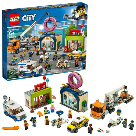 LEGO City Donut Shop Opening Store Opening Build and Play with Toy Vehicles and City Minifigures 60233