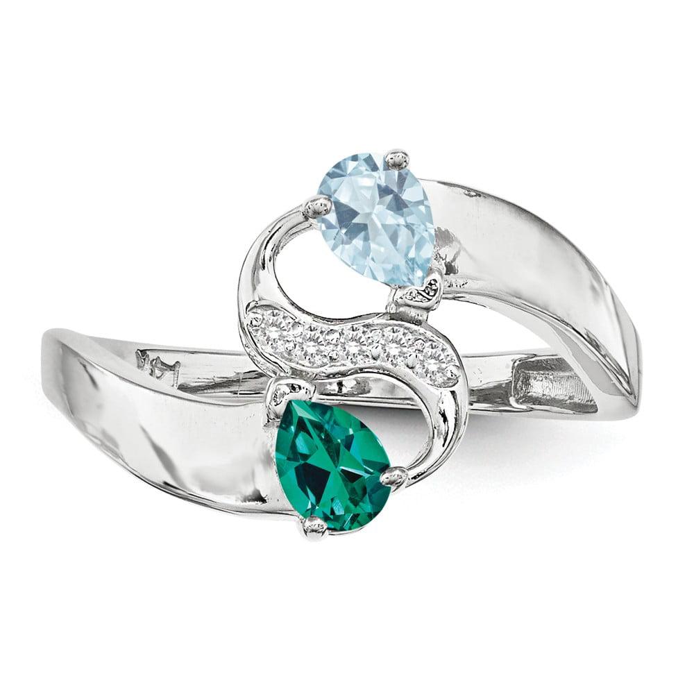 925 Sterling Silver Imitation Diamond Couple Ring