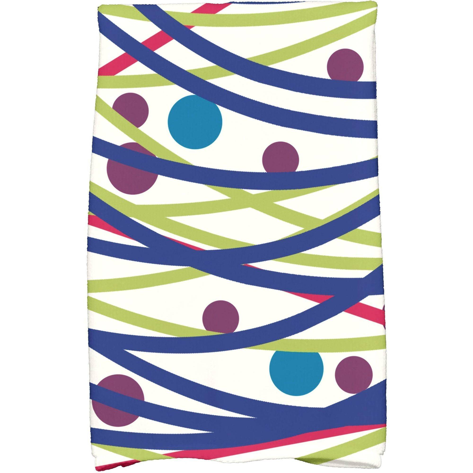 "Simply Daisy 16"" x 25"" Doodle Decorations Holiday Geometric Print Kitchen Towel"