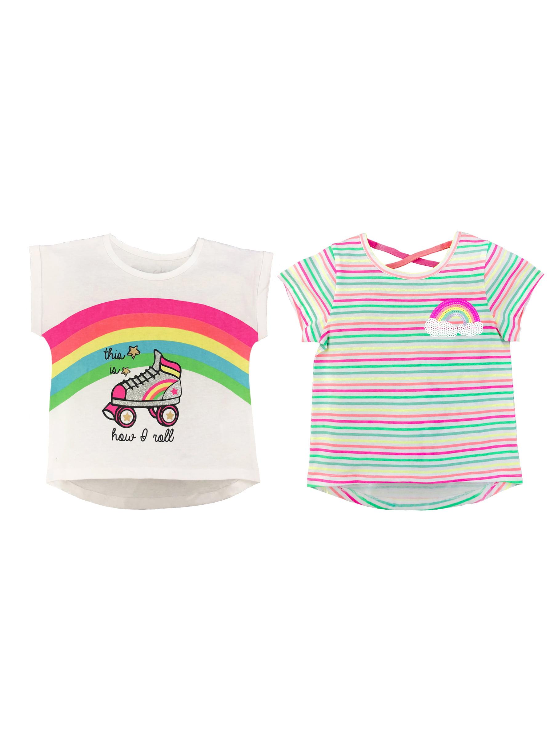 Rainbow T-shirts, 2-pack (Toddler Girls)