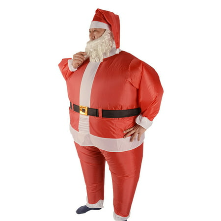 ALEKO Inflatable Santa Claus Costume With Beard and - Santa Claus Hat And Beard
