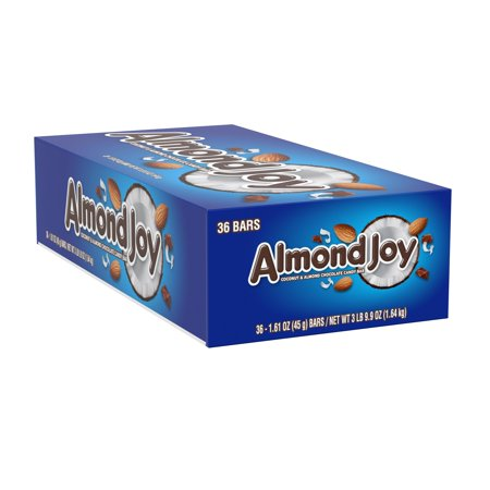 Green Almonds Gift Box - Almond Joy Standard Bar Box, 1.6 oz (Pack of 36)