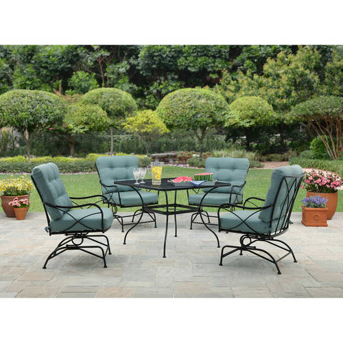 Better Homes and Gardens Seacliff 5pc Dining Set Teal Walmartcom