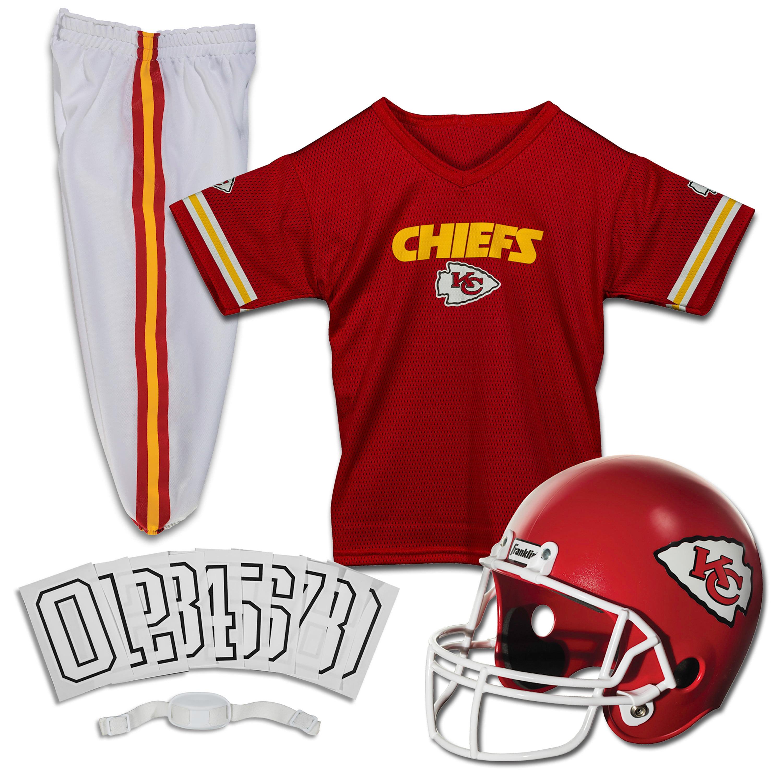 Franklin Sports NFL Kansas City Chiefs Youth Licensed Deluxe Uniform Set, Medium