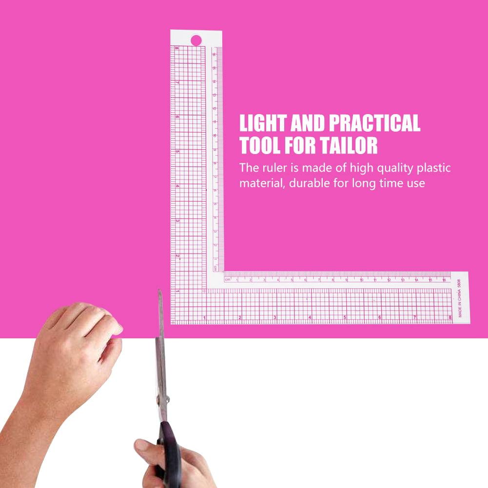 Plastic L-Square Shape Ruler Sewing Measure ruler Professional F3C0 Sewing C8O7