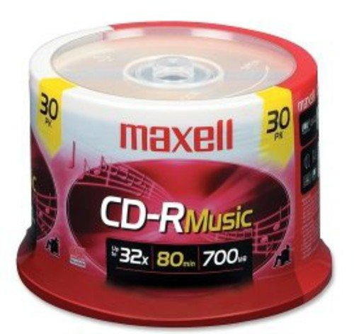 CD-R Media for For One Time Recording Audio 80 Min 1 Pack of 30 Pieces Spindle