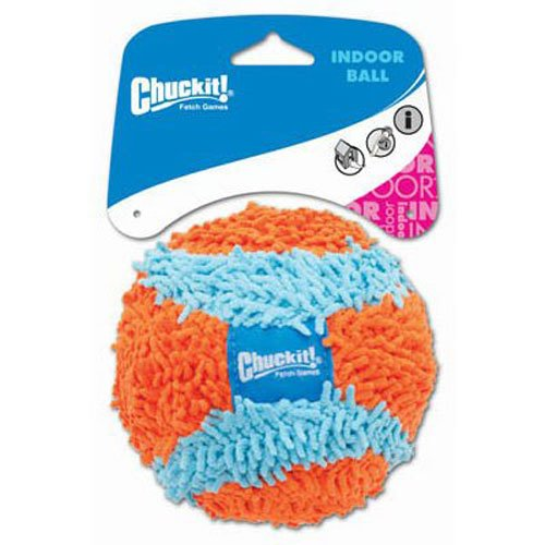 Chuckit! Indoor Ball for Small Dogs and Puppies Dog Toy Orange/Blue