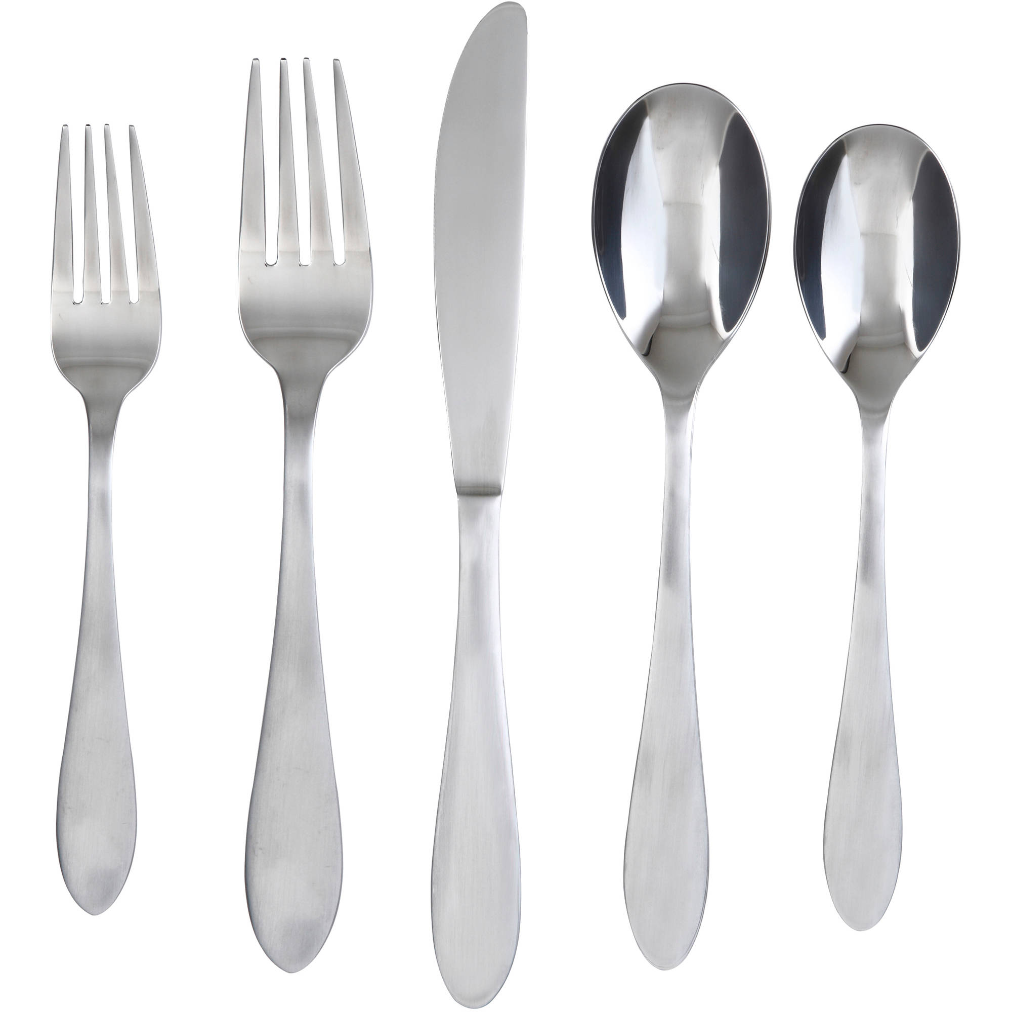 Cambridge Silversmiths Surge Satin 60-Piece Flatware Set with Buffet Server