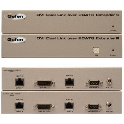 Gefen - EXT-DVI-2CAT6DL - Gefen Video Console/Extender - 1 Input Device - 1 Output Device - 200 ft Range - 2 x Network