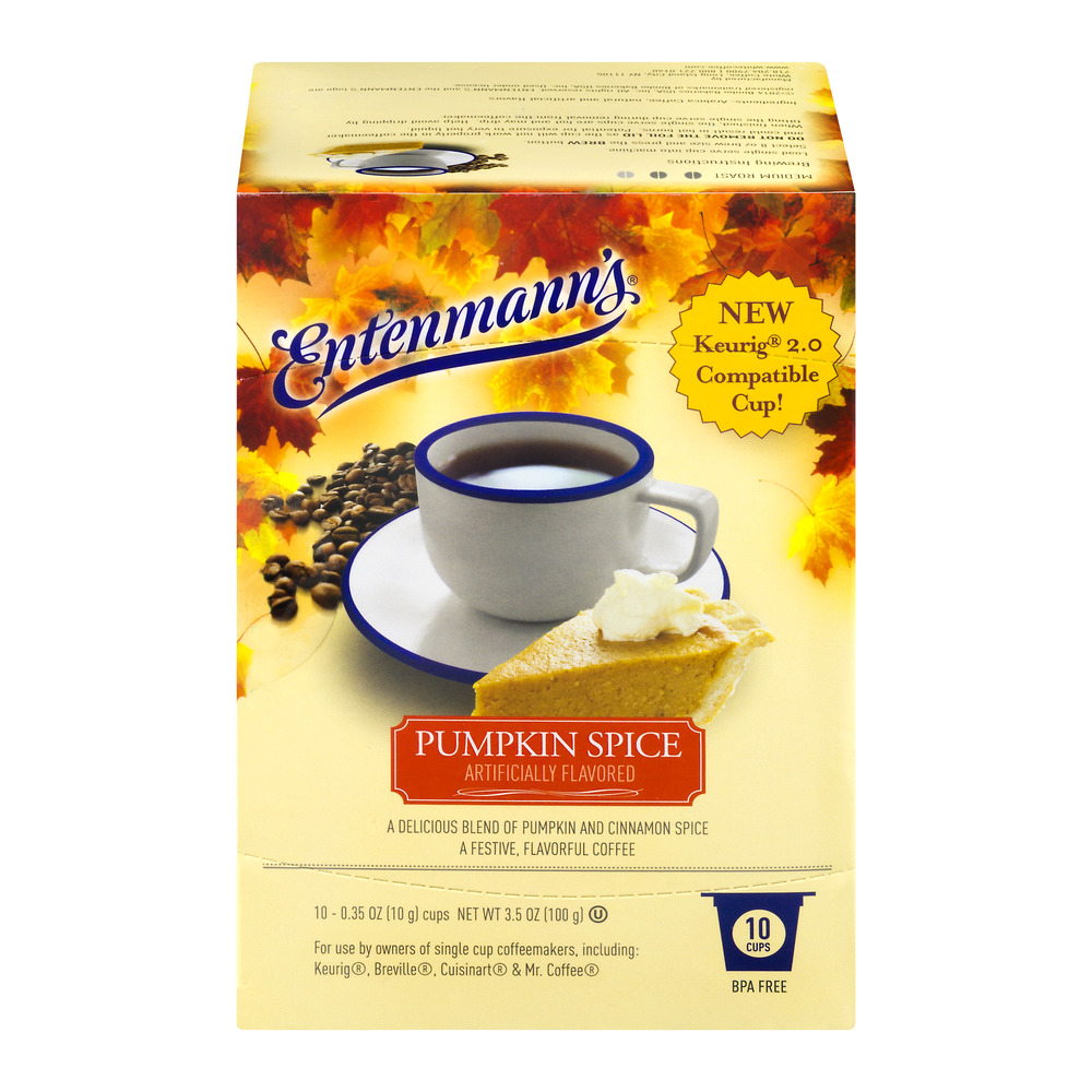 Entenmann's Coffee Pumpkin Spice Cups - 10 CT
