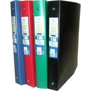 """DDI 1285280 Flexible Poly Binder - 1"""" - Solid Colors Case of 48"""