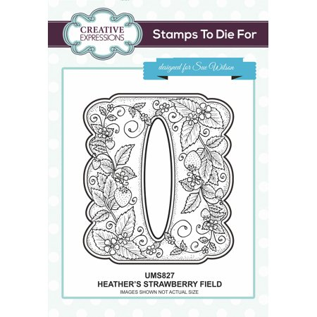Creative Expressions Stamps To Dies For By Sue Wilson-Heather's Strawberry Field - image 1 de 1