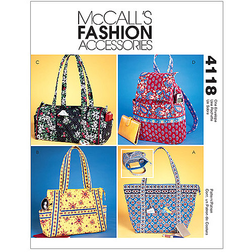 McCall's Pattern Misses' Handbags, 1 Size Only