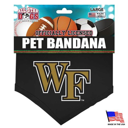 Wake Forest Demon Deacons Pet Bandana - - Wake Forest Demon Deacons Seal
