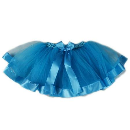 Wenchoice Blue Wide Ribbon Tutu Girls S(1Y-2Y)