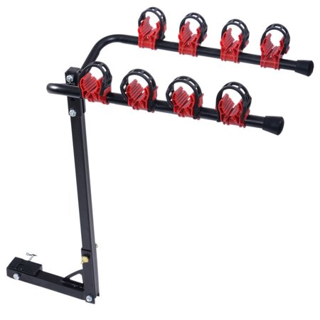 Gizmo Supply Heavy Duty 4 Bicycle Bike Rack Car Swing Down SUV Truck Van Hitch Mount Carrier