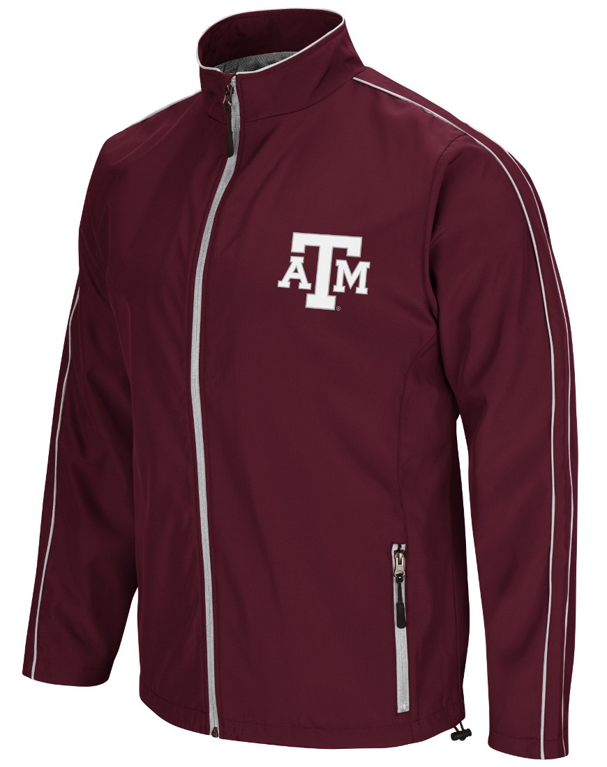 """Texas A&M Aggies NCAA """"Barrier"""" Men's Full Zip Wind Jacket by Colosseum"""