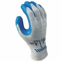 Atlas Fit 300 Rubber-Coated Gloves, L, Gray/Blue, Sold As 1 Dozen