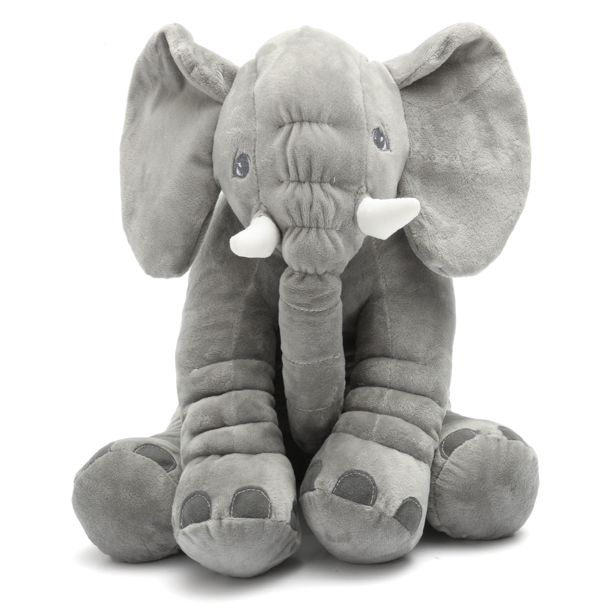 Grey Stuffed Animal Soft Cushion Baby Sleeping Soft Pillow Elephant